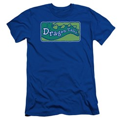 Dragon Tales - Mens Logo Clean Premium Slim Fit T-Shirt