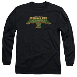 Kung Fu Panda - Mens Logo Long Sleeve T-Shirt