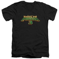 Kung Fu Panda - Mens Logo V-Neck T-Shirt