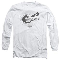 Kung Fu Panda - Mens Face Off Long Sleeve T-Shirt