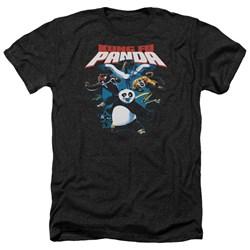 Kung Fu Panda - Mens Kung Fu Group Heather T-Shirt