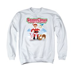 Santa Claus Is Comin To Town - Mens Animal Friends Sweater