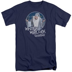 Santa Claus Is Comin To Town - Mens Winter Warlock Tall T-Shirt