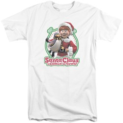 Santa Claus Is Comin To Town - Mens Penguin Tall T-Shirt