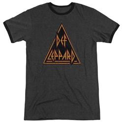 Def Leppard - Mens Distressed Logo Ringer T-Shirt
