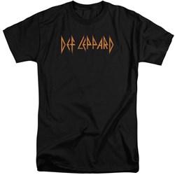 Def Leppard - Mens Horizontal Logo Tall T-Shirt