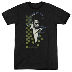 Dean - Mens Checkered Darkness Ringer T-Shirt