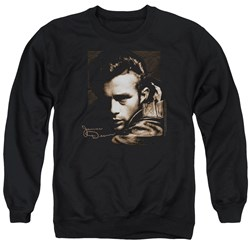 Dean - Mens Brown Leather Sweater