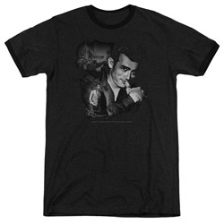 Dean - Mens Mischevious Large Ringer T-Shirt