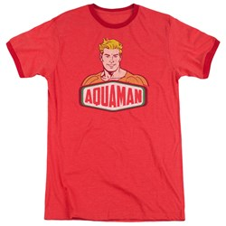 DC Comics - Mens Aquaman Sign Ringer T-Shirt