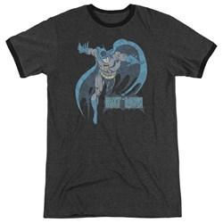 DC Comics - Mens Desaturated Batman Ringer T-Shirt