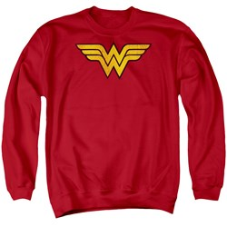 DC Comics - Mens Wonder Woman Logo Dist Sweater