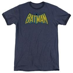 DC Comics - Mens Classic Batman Logo Ringer T-Shirt