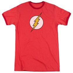 DC Comics - Mens Flash Logo Ringer T-Shirt