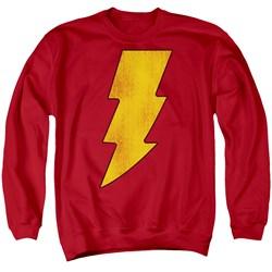 DC Comics - Mens Shazam Logo Distressed Sweater