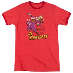 Cow And Chicken - Mens Al Rescate Ringer T-Shirt
