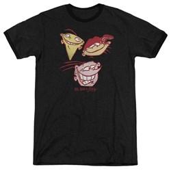 Ed Edd Eddy - Mens Three Heads Ringer T-Shirt
