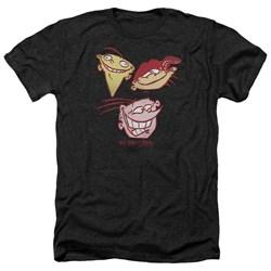 Ed Edd Eddy - Mens Three Heads Heather T-Shirt