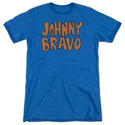 Johnny Bravo - Mens Jb Logo Ringer T-Shirt
