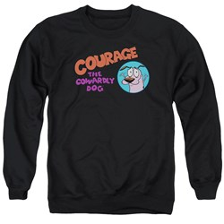 Courage The Cowardly Dog - Mens Courage Logo Sweater