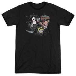 Billy & Mandy - Mens Splatter Cast Ringer T-Shirt