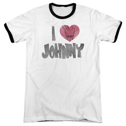 Johnny Bravo - Mens I Heart Johnny Ringer T-Shirt