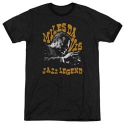 Miles Davis - Mens Jazz Legend Ringer T-Shirt
