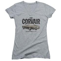Chevrolet - Juniors Retro Corvair V-Neck T-Shirt