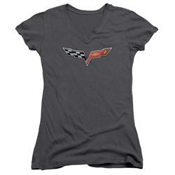 Chevrolet - Juniors The Vette Medallion V-Neck T-Shirt