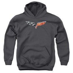 Chevrolet - Youth The Vette Medallion Pullover Hoodie
