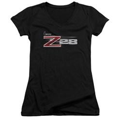 Chevrolet - Juniors Z28 Logo V-Neck T-Shirt