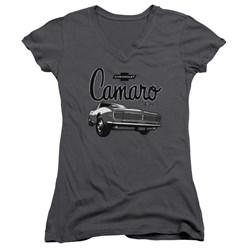 Chevrolet - Juniors Script Car V-Neck T-Shirt
