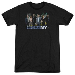 Csi Ny - Mens Cast Ringer T-Shirt