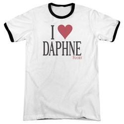 Frasier - Mens I Heart Daphne Ringer T-Shirt