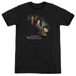 Ghost Whisperer - Mens Diagonal Cast Ringer T-Shirt