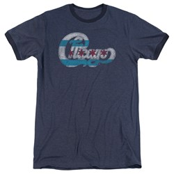 Chicago - Mens Flag Logo Ringer T-Shirt