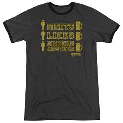Cheers - Mens Man Meets Beer Ringer T-Shirt