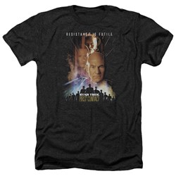 Star Trek - Mens First Contact(Movie) Heather T-Shirt