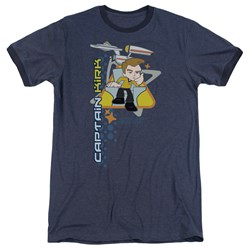 Quogs - Mens Captain'S Chair Ringer T-Shirt