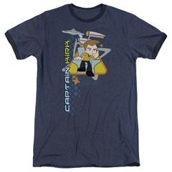 Quogs - Mens Captain'S Chair Ringer T-Shirt