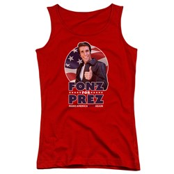 Happy Days - Juniors Fonz For Prez Tank Top