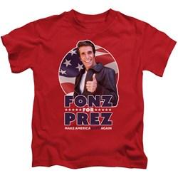 Happy Days - Little Boys Fonz For Prez T-Shirt