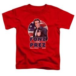 Happy Days - Toddlers Fonz For Prez T-Shirt