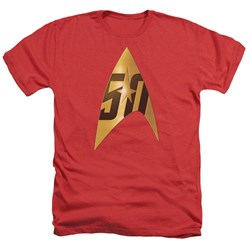 Star Trek - Mens 50Th Anniversary Delta Heather T-Shirt