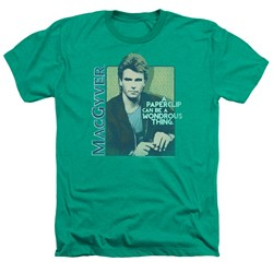 Macgyver - Mens Wonderous Paperclip Heather T-Shirt