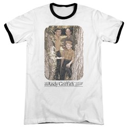 Andy Griffith - Mens Tree Photo Ringer T-Shirt
