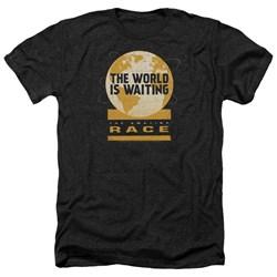 Amazing Race - Mens Waiting World Heather T-Shirt