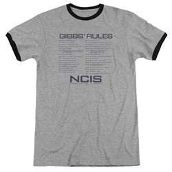 Ncis - Mens Gibbs Rules Ringer T-Shirt