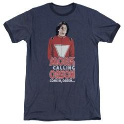 Mork & Mindy - Mens Come In Orson Ringer T-Shirt
