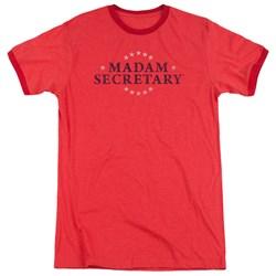 Madam Secretary - Mens Distress Logo Ringer T-Shirt